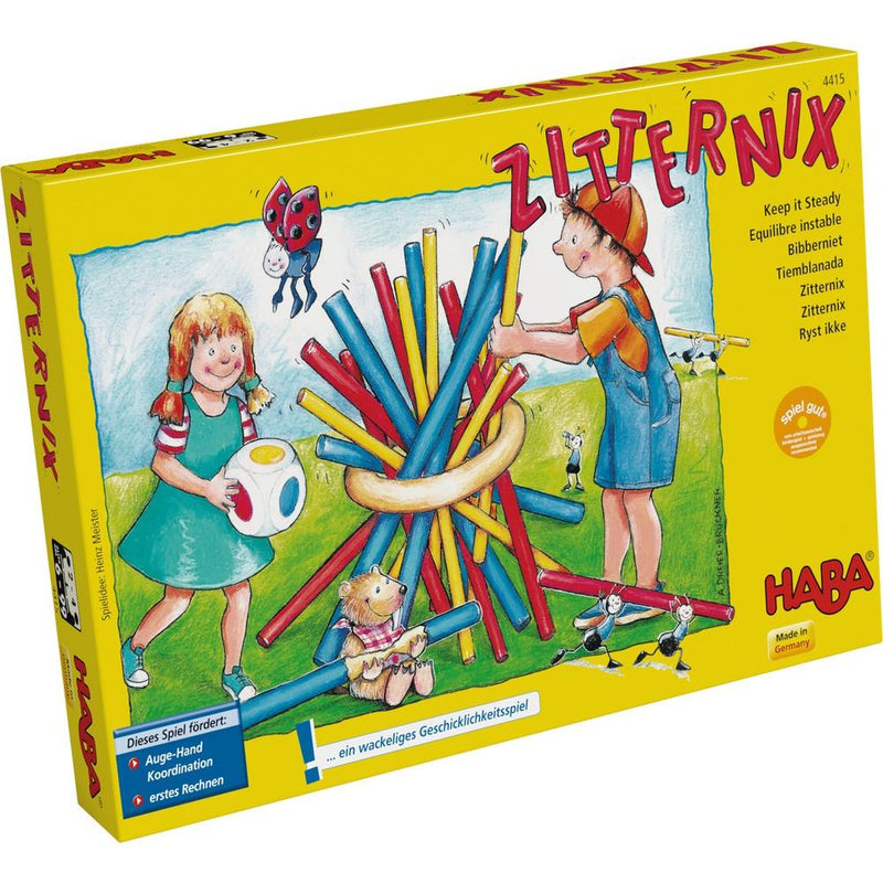HABA Zitternix - Keep It Steady Haba, Board Games Beanie Games