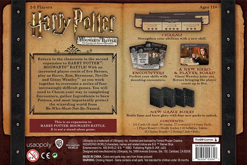 Harry Potter: Hogwarts Battle - The Charms and Potions Expansion USAopoly, Board Games Beanie Games