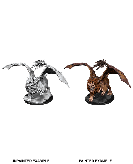 Manticore: D&D Nolzur's Marvelous Unpainted Miniatures (W12) Wiz Kids LLC, RPG Miniatures Beanie Games