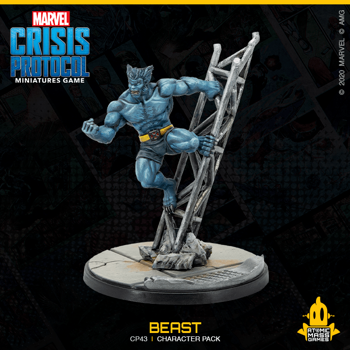 Marvel Crisis Protocol: Mystique and Beast Atomic Mass Games, Marvel Crisis Protocol Beanie Games