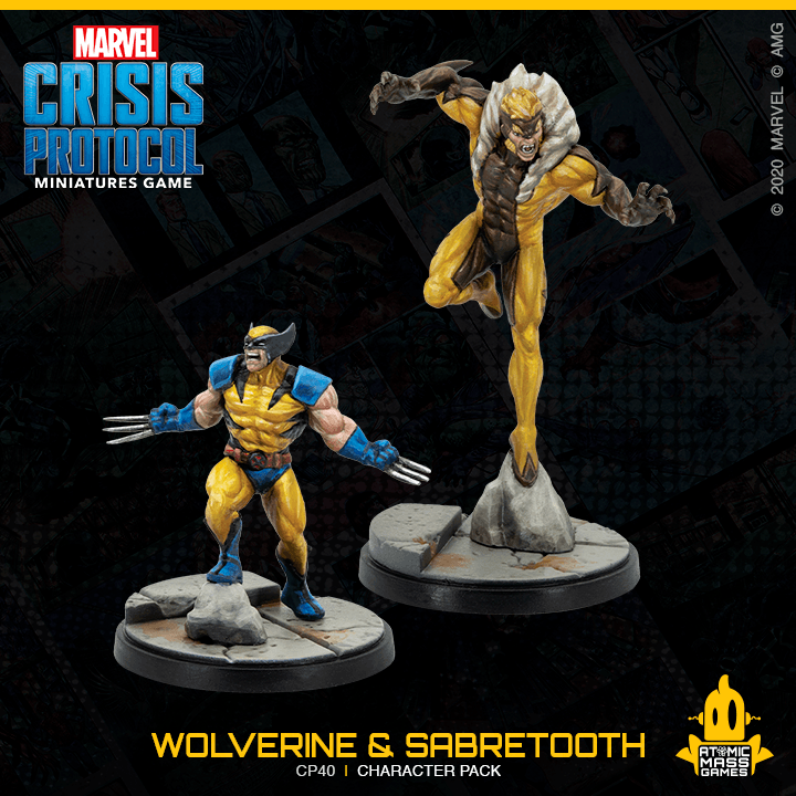 Marvel Crisis Protocol: Wolverine and Sabretooth Atomic Mass Games, Marvel Crisis Protocol Beanie Games