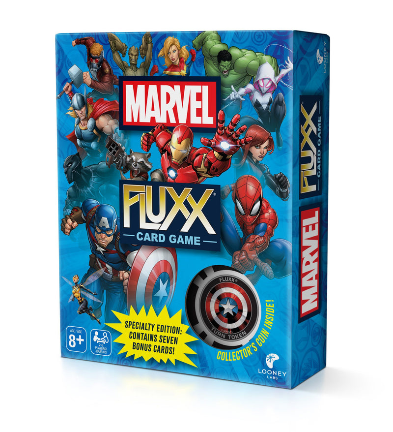 Marvel Fluxx Specialty Edition Looney Labs, Board Games Beanie Games