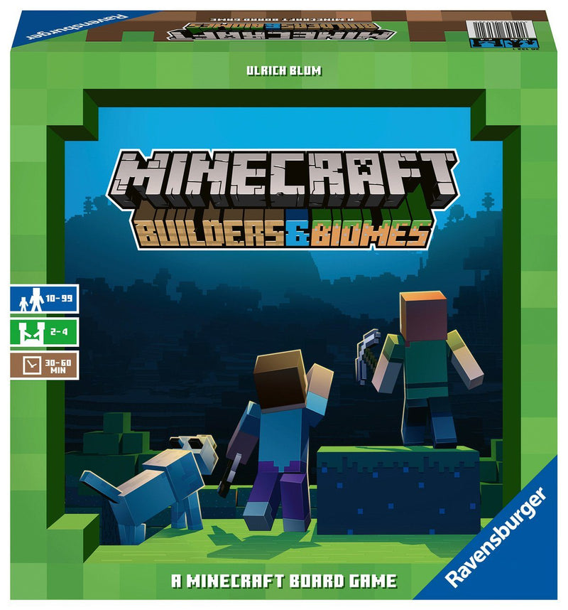Minecraft Builders & Biomes Ravensburger, Board Games Beanie Games