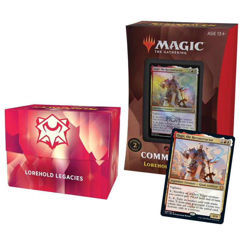 MTG Strixhaven School of Mages Commander Decks Lorehold Legacies (Red/White) Wizards Of The Coast, Magic Beanie Games