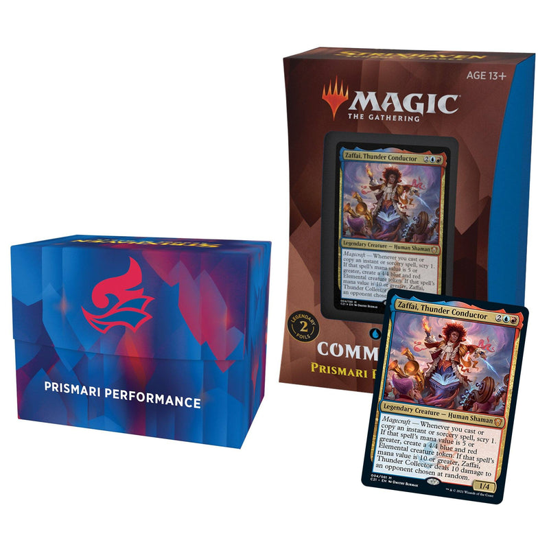 MTG Strixhaven School of Mages Commander Decks Primary Performance (Blue/Red) Wizards Of The Coast, Magic Beanie Games