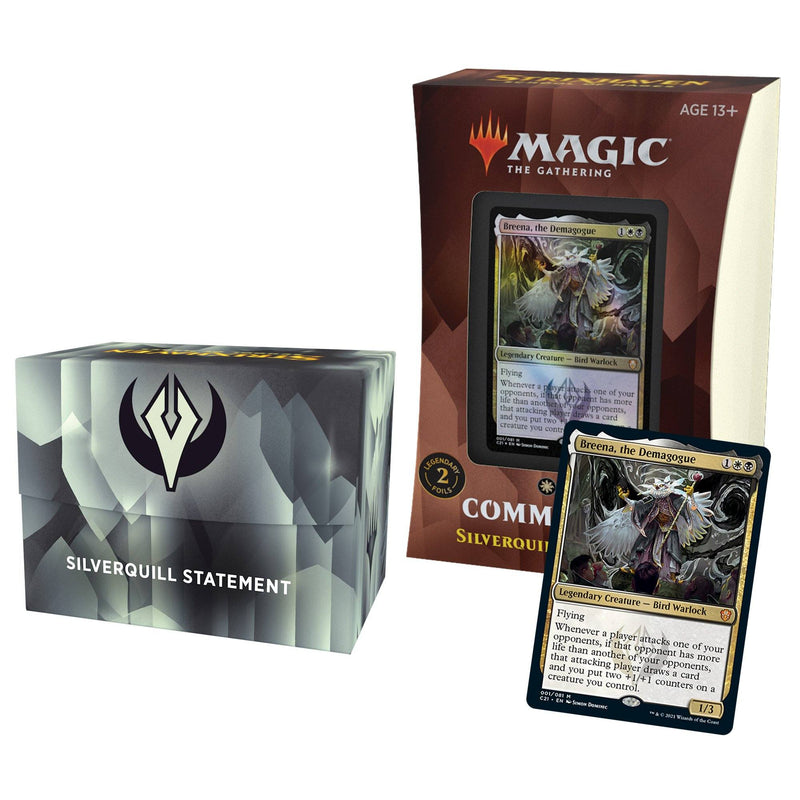 MTG Strixhaven School of Mages Commander Decks Silverquill Statement (Black/White) Wizards Of The Coast, Magic Beanie Games