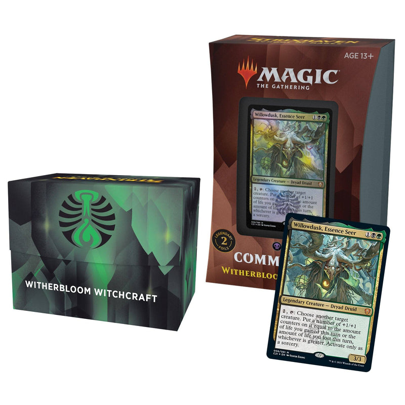 MTG Strixhaven School of Mages Commander Decks Witherbloom Witchcraft (Black/Green) Wizards Of The Coast, Magic Beanie Games