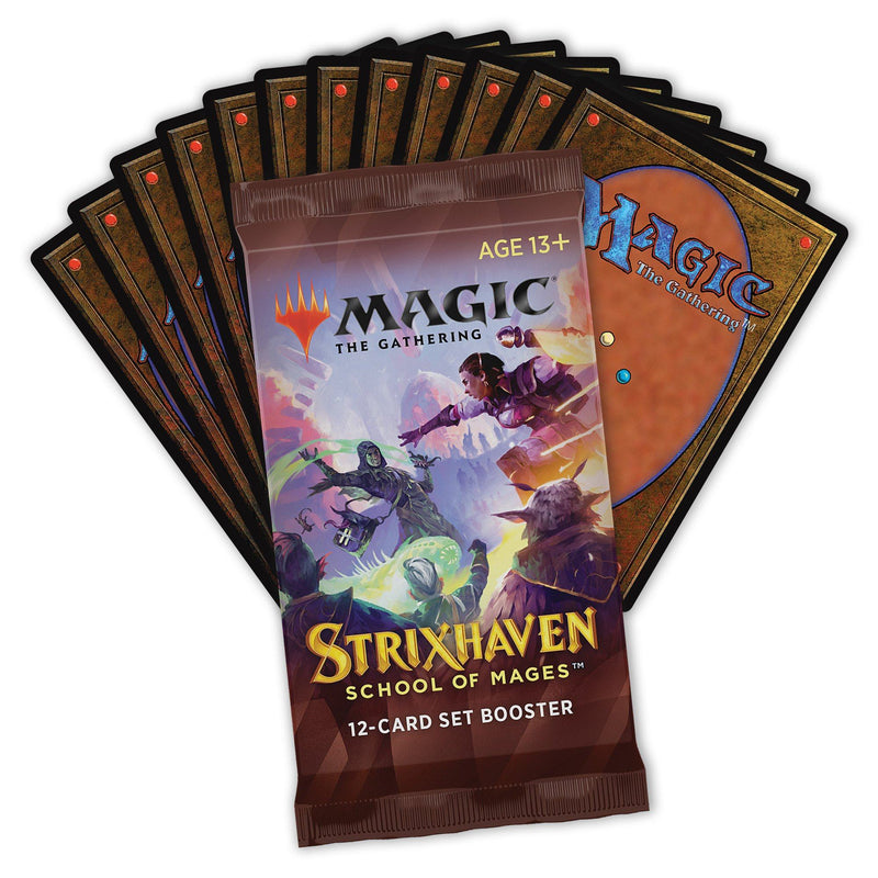MTG Strixhaven School of Mages Set Booster Wizards Of The Coast, Magic Beanie Games
