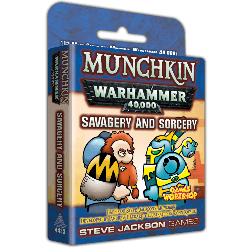 Munchkin 40K: Savagery and Sorcery Steve Jackson Games, Board Games Beanie Games
