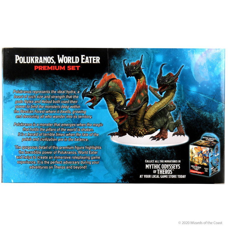 Mythic Odysseys of Theros: Polukranos, World Eater Premium Figure: D&D Icons of the Realms Wiz Kids LLC, RPG Miniatures Beanie Games