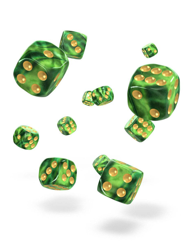 Oakie Doakie Dice D6 Dice 12 mm Gemidice - Jungle (36) Oakie Doakie Dice, Dice Beanie Games