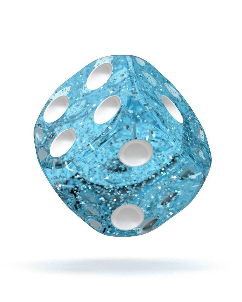 Oakie Doakie Dice D6 Dice 12 mm Speckled - Light Blue (36) Oakie Doakie Dice, Dice Beanie Games