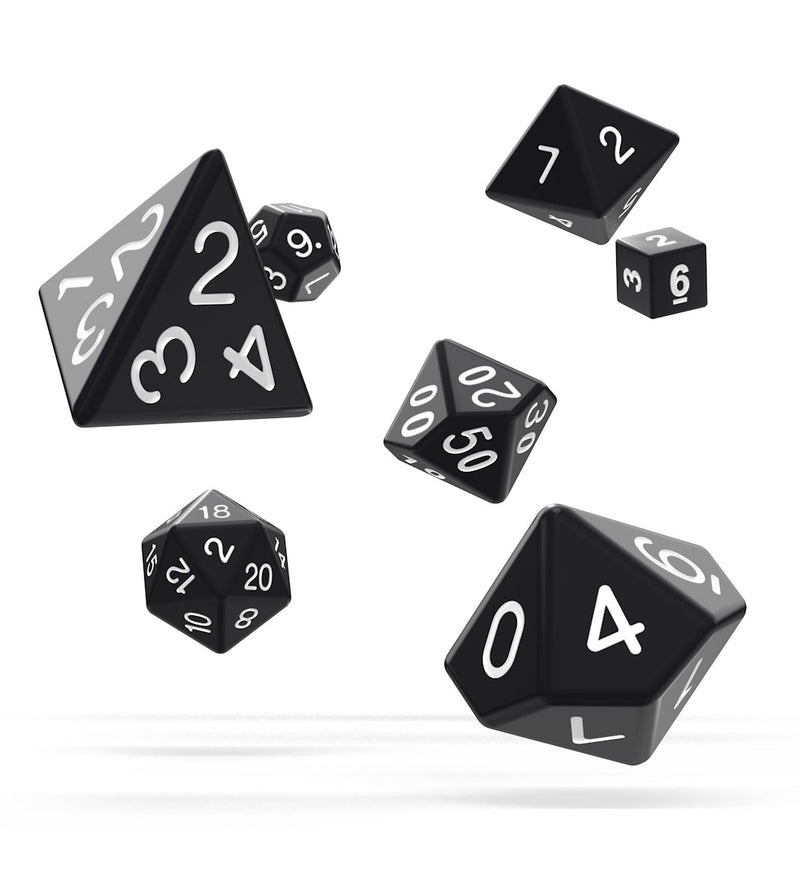 Oakie Doakie Dice RPG Set Solid - Black (7) Oakie Doakie Dice, Dice Beanie Games