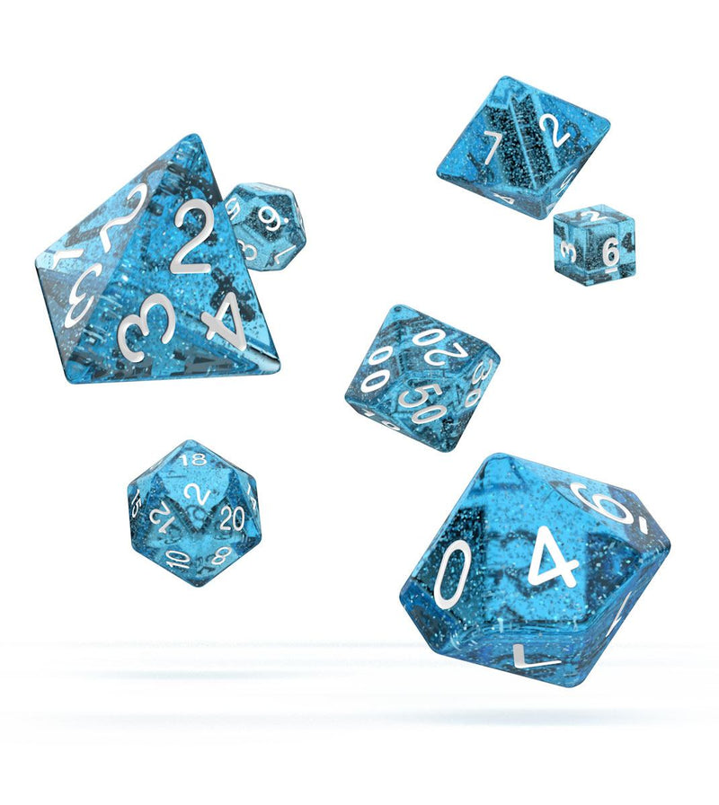 Oakie Doakie Dice RPG Set Speckled - Light Blue (7) Oakie Doakie Dice, Dice Beanie Games