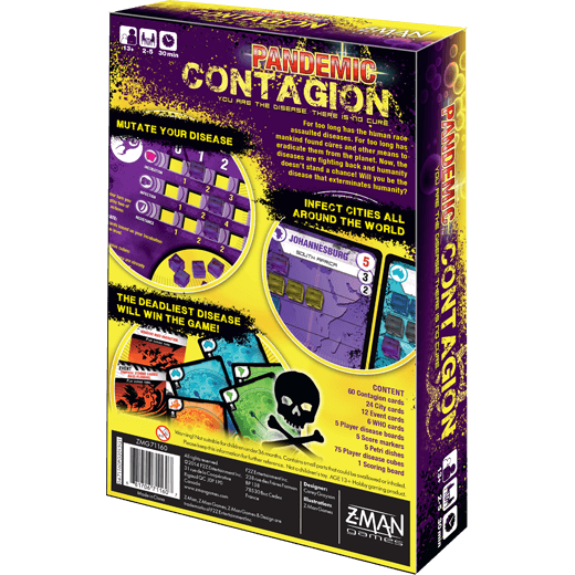 Pandemic: Contagion Z Man Games, Board Games Beanie Games