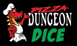 Pizza Dungeon Dice: 'Lucky' Dice - Clear Red Reaper Miniatures, Dice Beanie Games