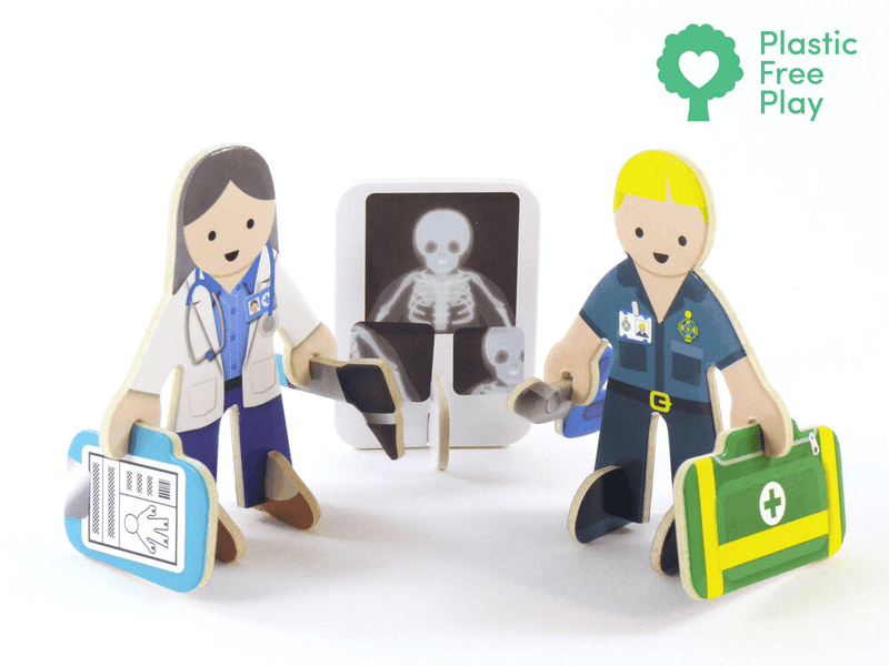 Play Press: Check-up Time Character Set Play Press, Toys Beanie Games