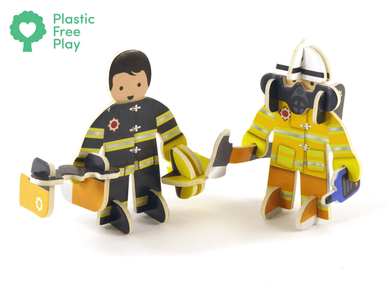 Play Press: Rescue Team Character Set Play Press, Toys Beanie Games