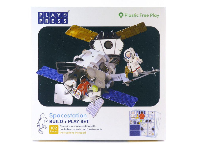 Play Press: Spacestation Playset Play Press, Toys Beanie Games