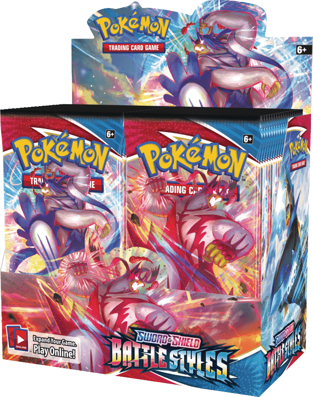 Pokemon TCG: Battle Styles Booster Box (36 Booster Packs) Pokemon, Pokemon Beanie Games