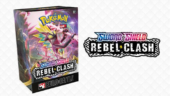 Pokemon TCG Rebel Clash Build & Battle Kit (Contains 4 Booster Packs & Promo Pack) Pokemon, Pokemon Beanie Games