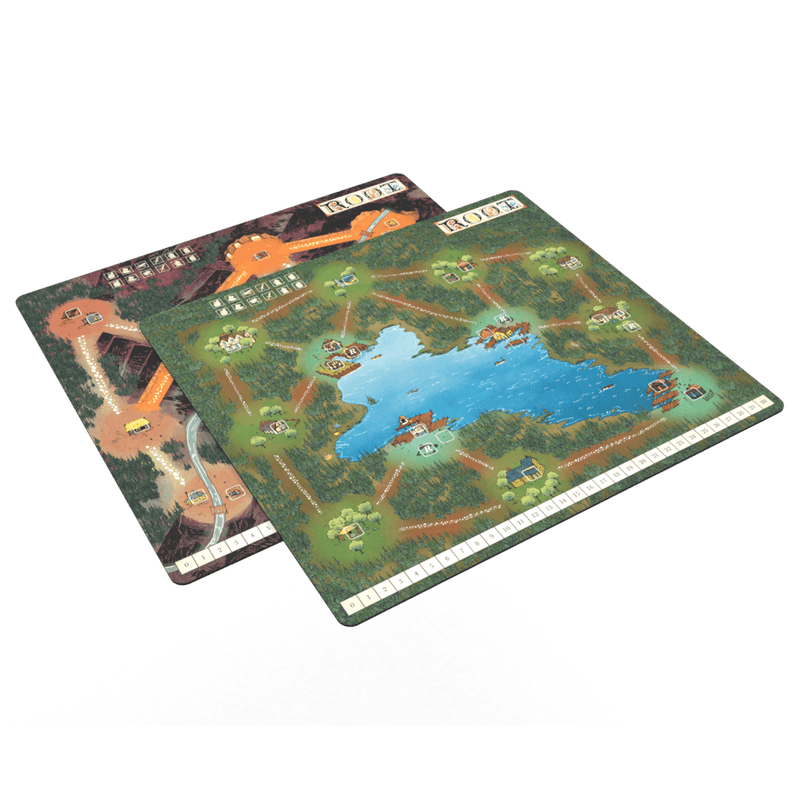 Root: Mountain And Lake Playmat Leder Games, Board Games Beanie Games