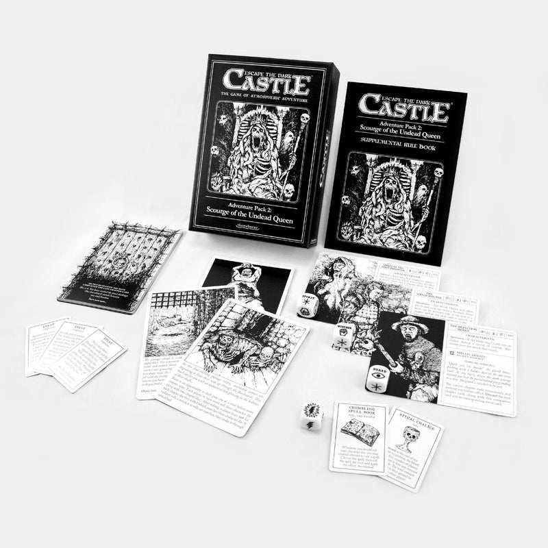Scourge of the Undead Queen: Escape the Dark Castle Adventure Pack 2 Themeborne, Board Games Beanie Games