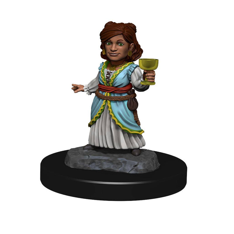 Silver Dragon Wyrmling & Female Halfling: D&D Nolzur's Marvelous Miniatures (W13) by Wiz Kids LLC - Beanie Games