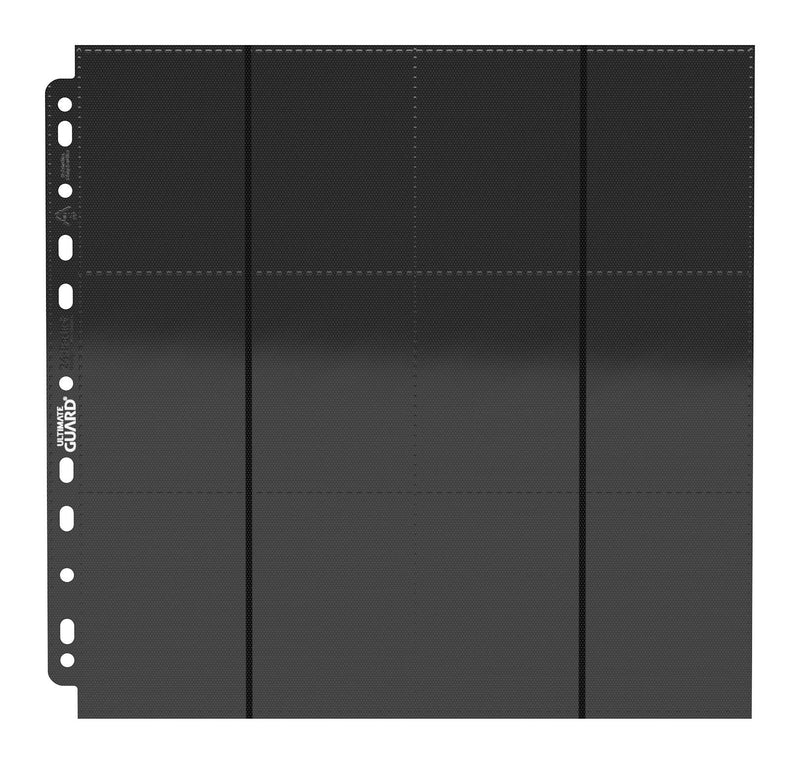 UG 24-Pocket QuadRow Pages Side-Loading Black (10) Ultimate Guard, CCG Accessories Beanie Games