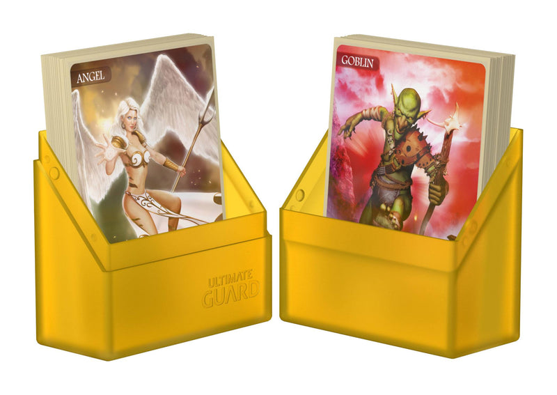 UG Boulder Deck Case 40+ Standard Size Amber Ultimate Guard, CCG Accessories Beanie Games