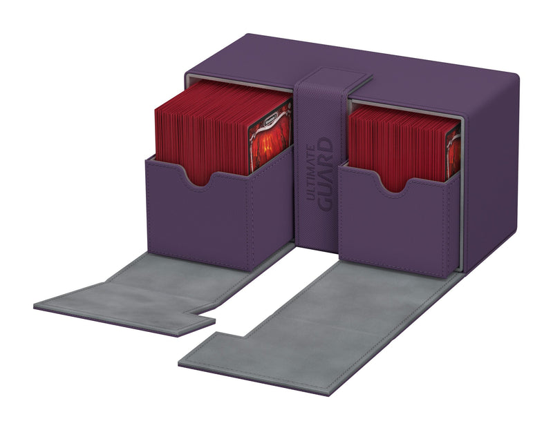 UG Flip N Tray Deck Case Purple 200+ Ultimate Guard, CCG Accessories Beanie Games