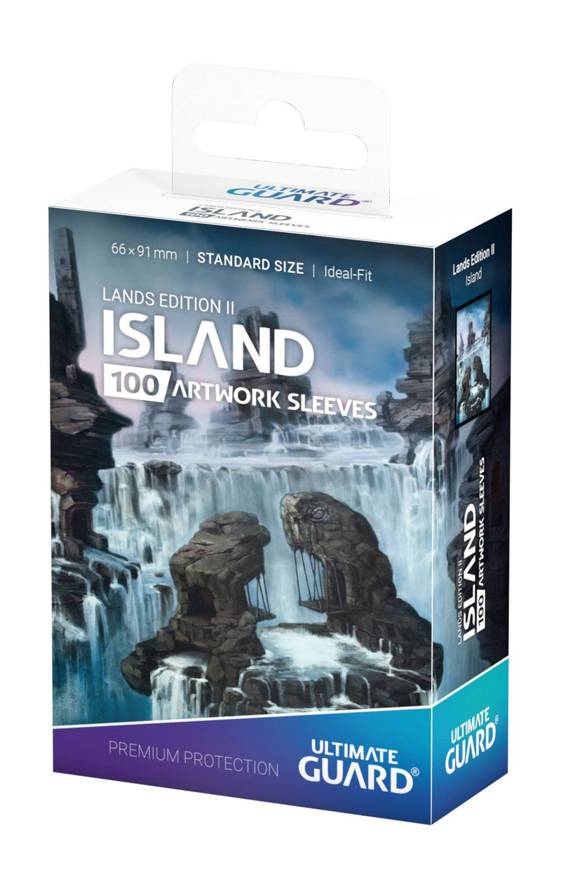 UG MTG Standard Lands Edition II Island Sleeves (100) Ultimate Guard, CCG Accessories Beanie Games