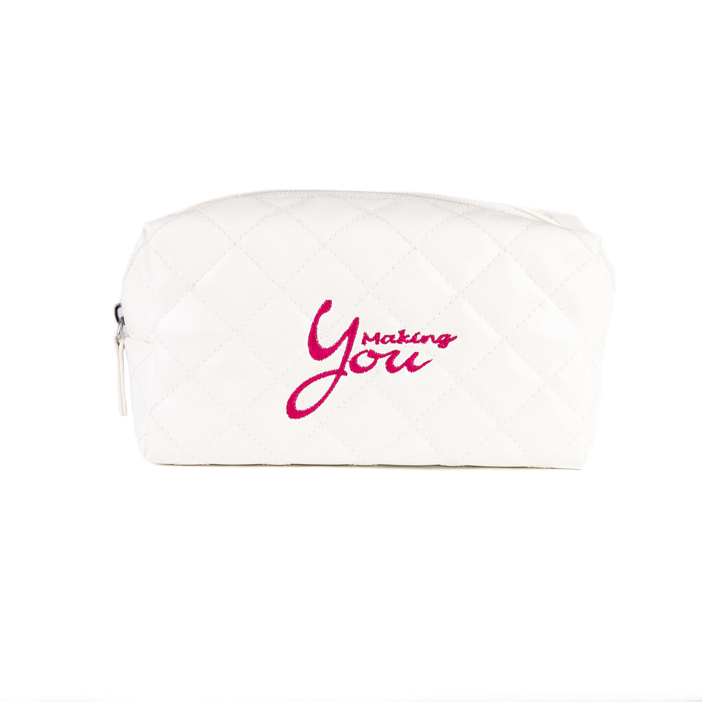 Makeup Bag - Classic White