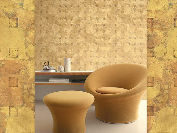 9. Rustic Geometric Wallpaper For a Vintage Look