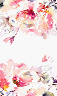 Custom Murals Watercolor Flowers Wallpaper 181298414
