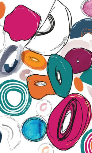 Abstract Playful Donuts Wallpaper 2001057
