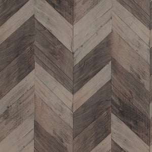 Modern Motifs Weathered Herringbone Wallpaper 217994