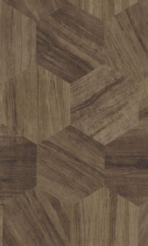 Material World Russet Shifted Geometric Wood 219843