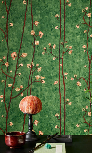 Van Gogh flowering plum orchard wallpaper