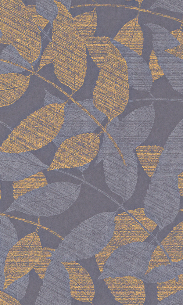 Indigo Swift Leaves Wallpaper 226354