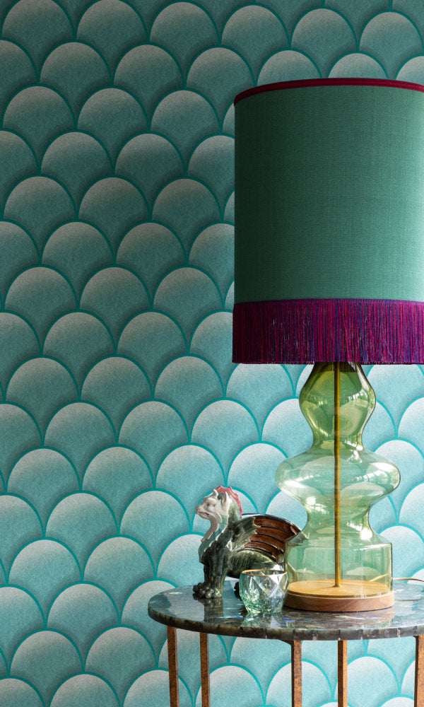 metallic geometric powder room wallpaper canada
