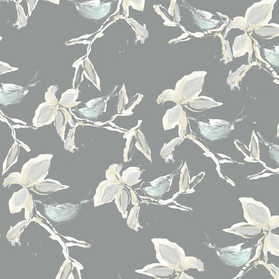 Porcellano Oriental Chirping Birds Wallpaper 47096