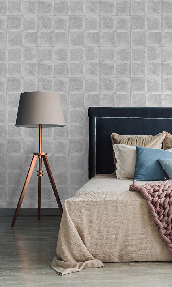 faux tile wallpaper