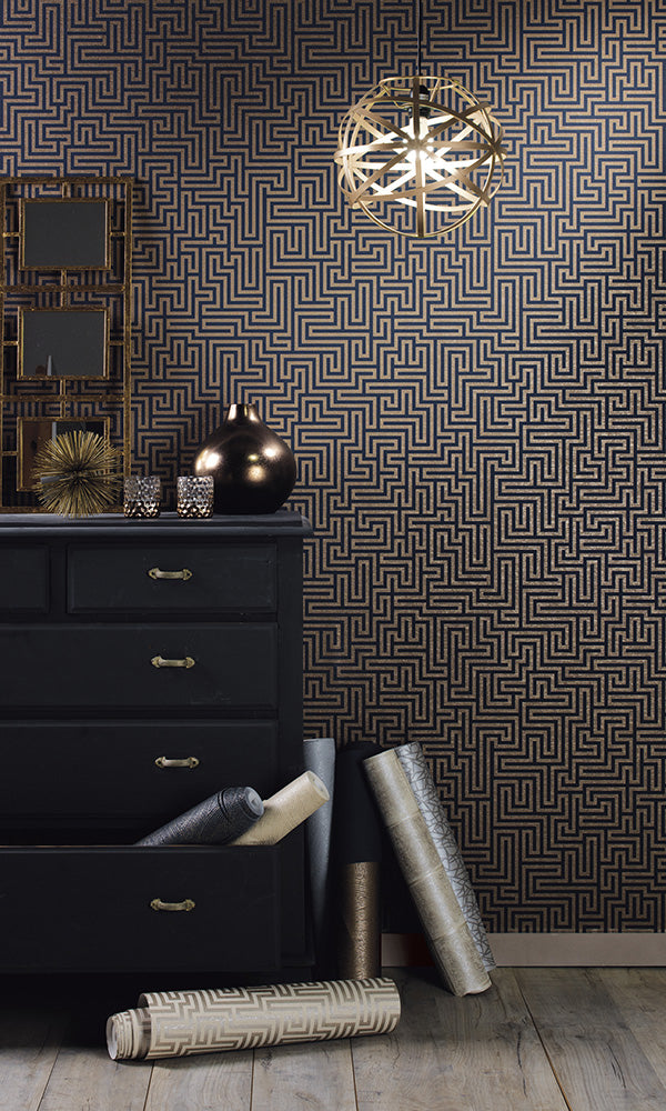 geometric labyrinth wallpaper