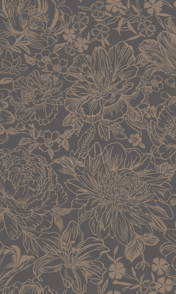 large vintage floral wallpaper