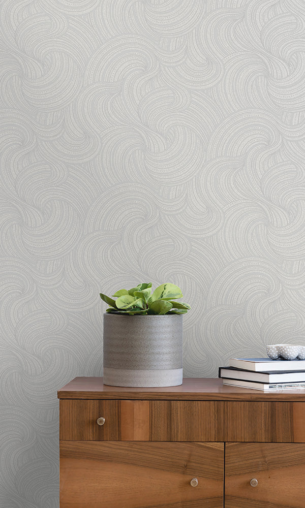 geometric metallic wallpaper