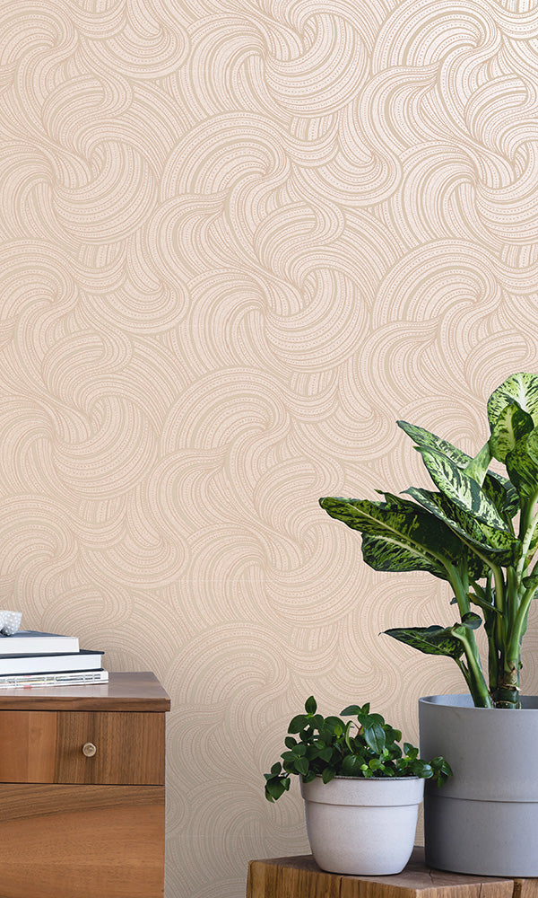 metallic geometric wallpaper