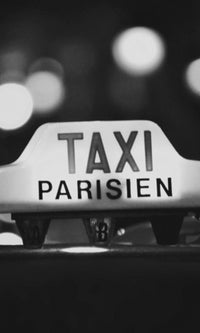 City Love Parisian Taxi Wallpaper CL23B