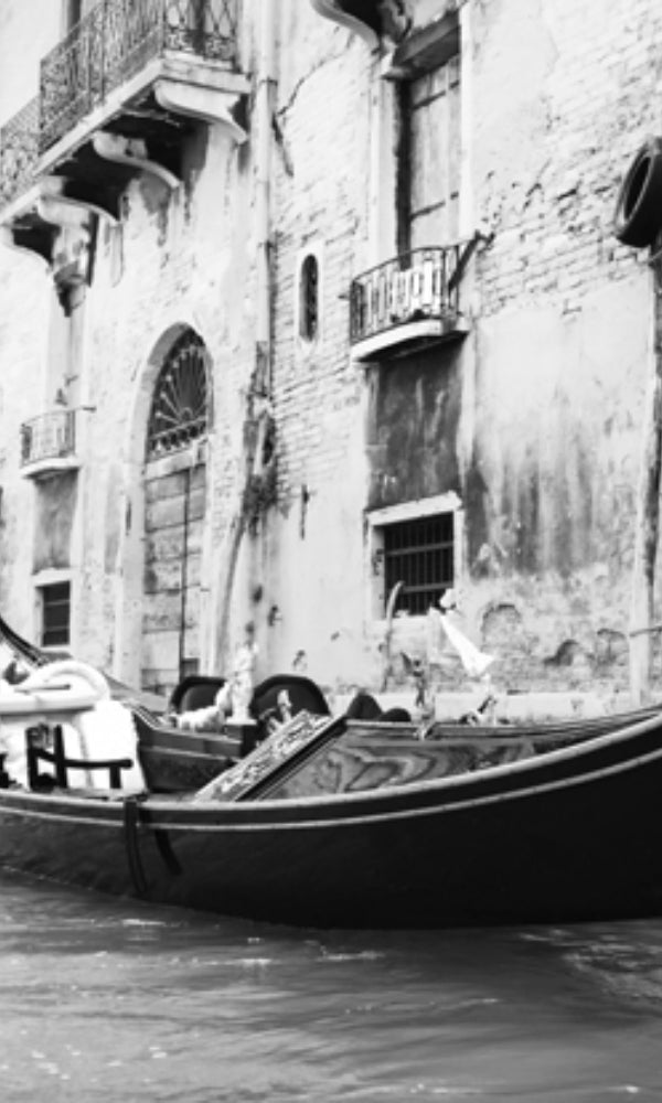 City Love Venice Boat on the River Wallpaper CL45B