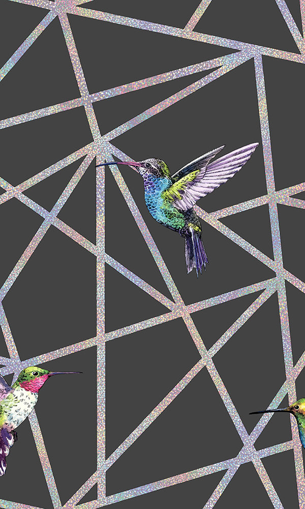 geometric hummingbird wallpaper